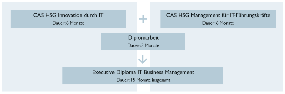 Studienablauf des Executive Diploma HSG in IT Business Management