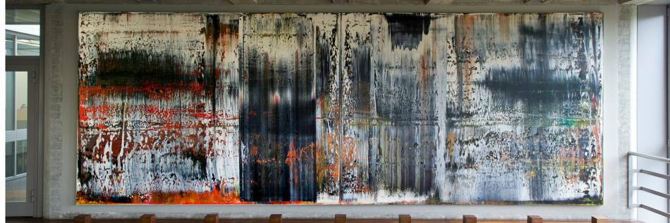 "Gerhard Richter Painting ""Illusionen"" in HSG Library Building"