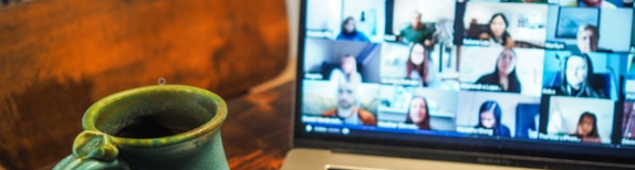 Screen, Zoom meeting, virtual meeting